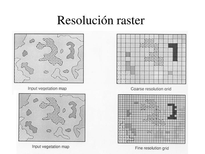 Resolución raster