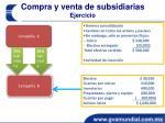 compra y venta de subsidiarias ejercicio1