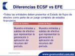 diferencias ecsf vs efe
