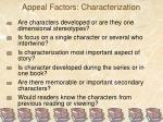 appeal factors characterization