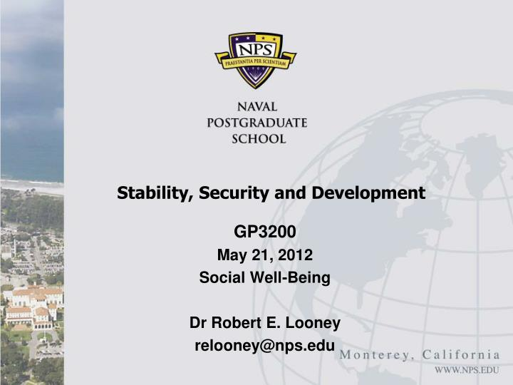 stability security and development n.
