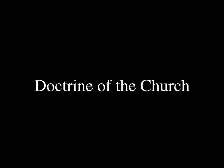 doctrine of the church n.