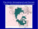 pan arctic atmosphere land domain1