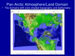 pan arctic atmosphere land domain5