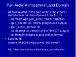 pan arctic atmosphere land domain7