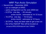 wrf pan arctic simulation3
