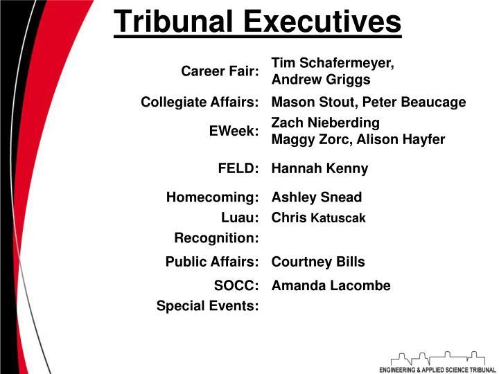 Tribunal Executives