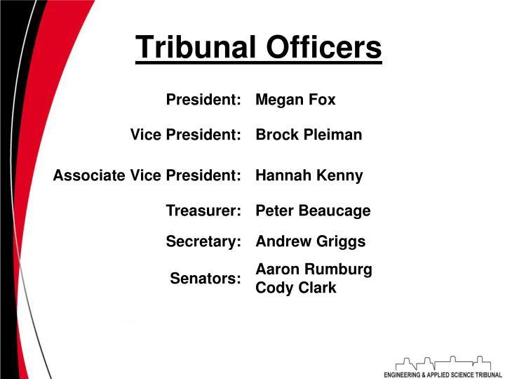 Tribunal officers