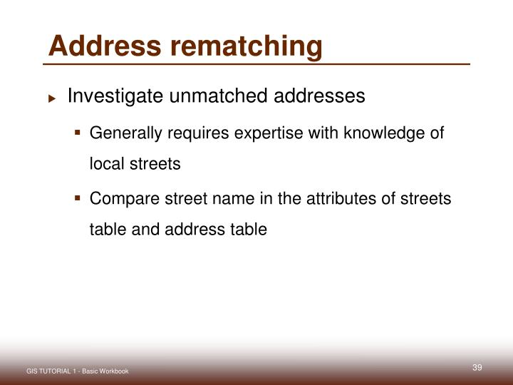Address rematching