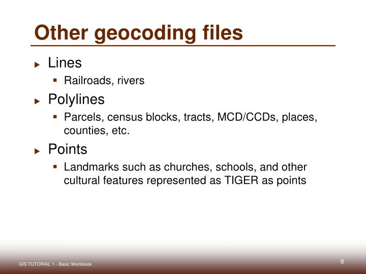 Other geocoding files