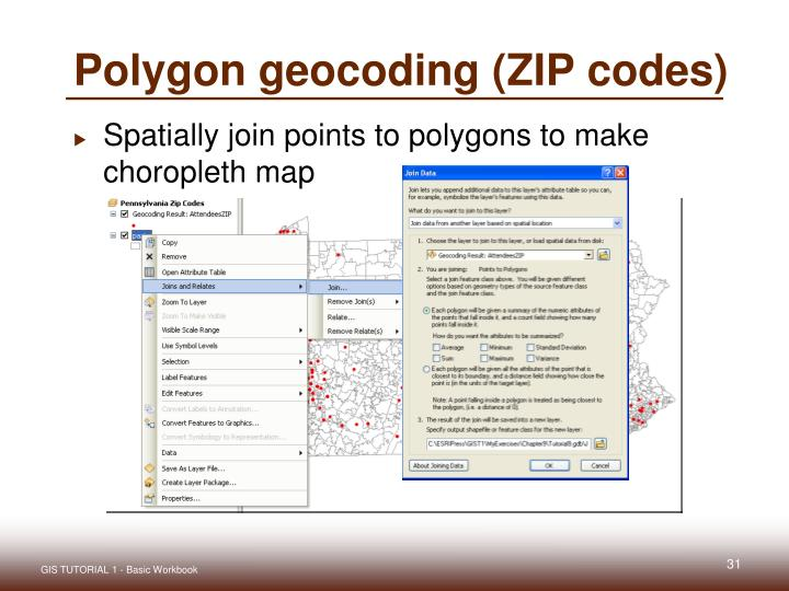 Polygon geocoding (ZIP codes)