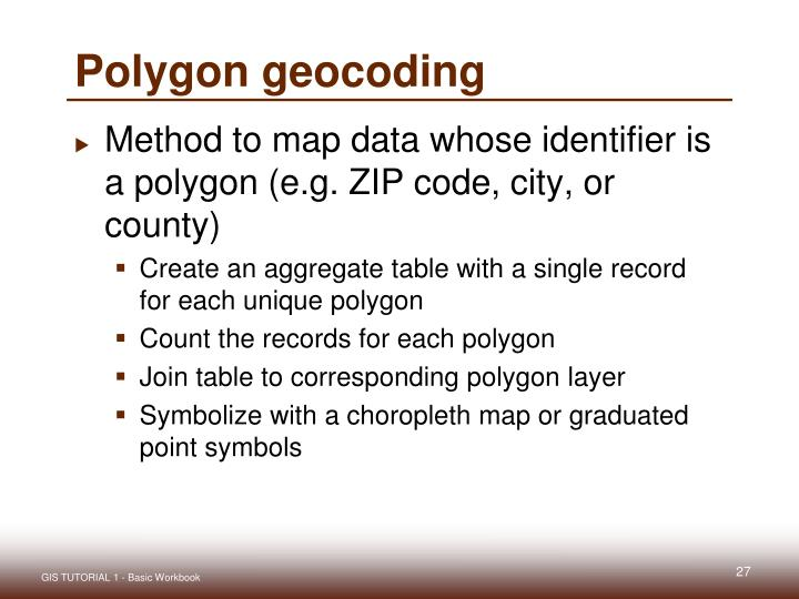 Polygon geocoding