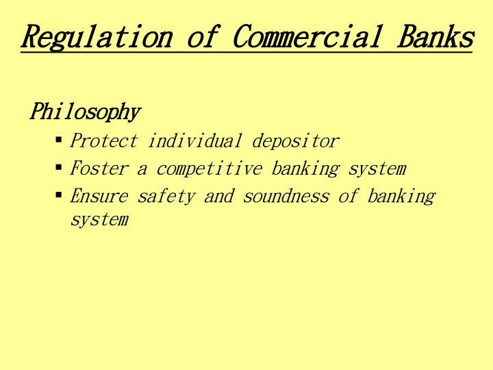 Regulation of Commercial Banks