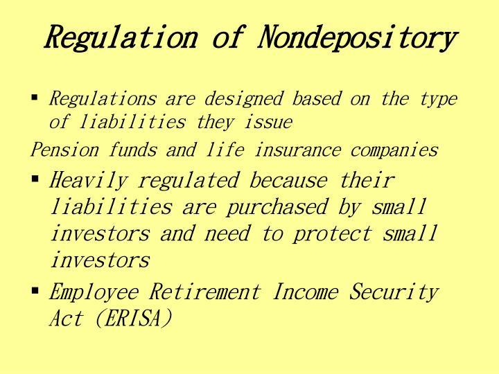 Regulation of Nondepository