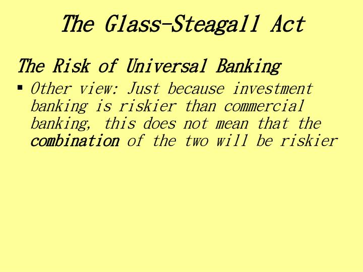 The Glass-Steagall Act