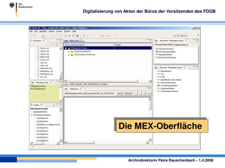 Digitalisierung von Akten der Büros der Vorsitzenden des FDGB