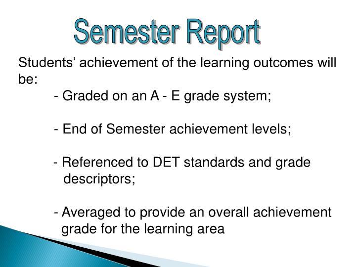 Semester Report