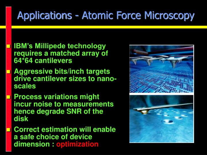 Applications atomic force microscopy