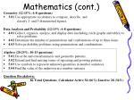 mathematics cont
