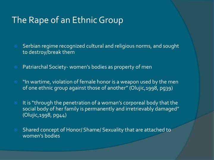 The Rape of an Ethnic Group