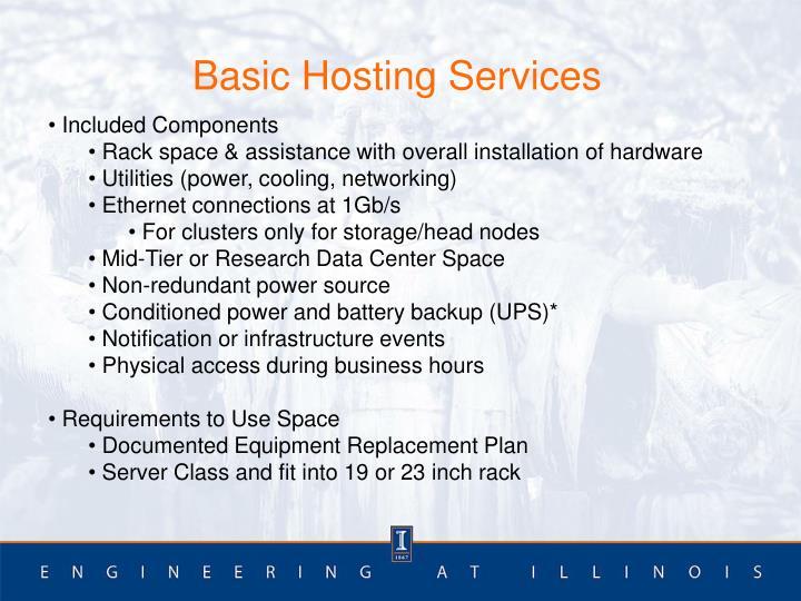 Basic Hosting Services