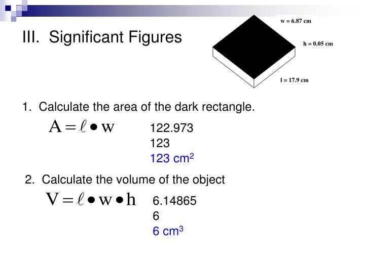 Iii significant figures