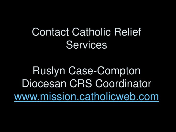 Contact Catholic Relief Services