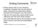 ending comments