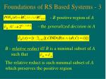 foundations of rs based systems 3