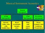 musical instrument acoustics
