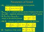parameters of sound
