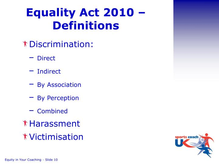 Equality Act 2010 – Definitions