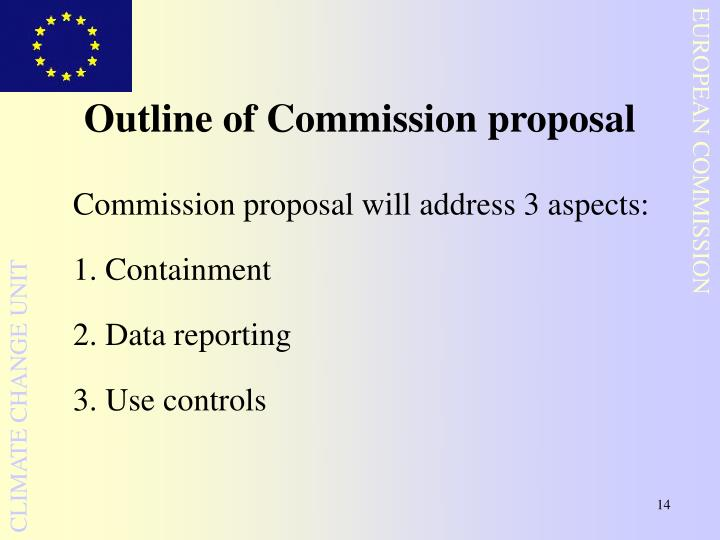 Outline of Commission proposal