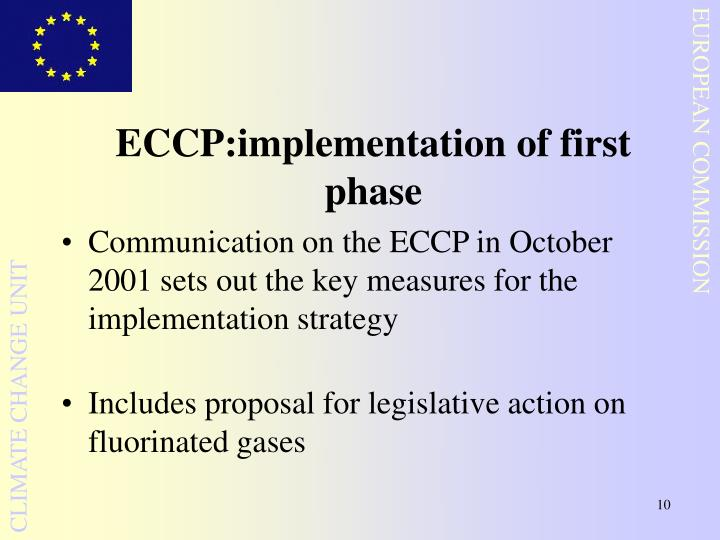 ECCP:implementation of first phase