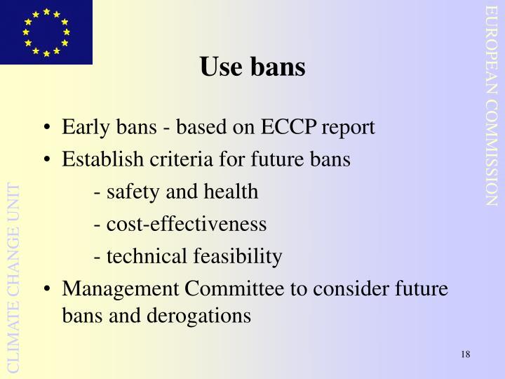 Use bans