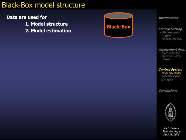 Black box model structure