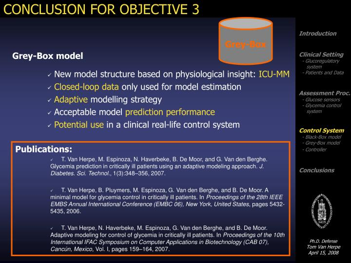 CONCLUSION FOR OBJECTIVE 3
