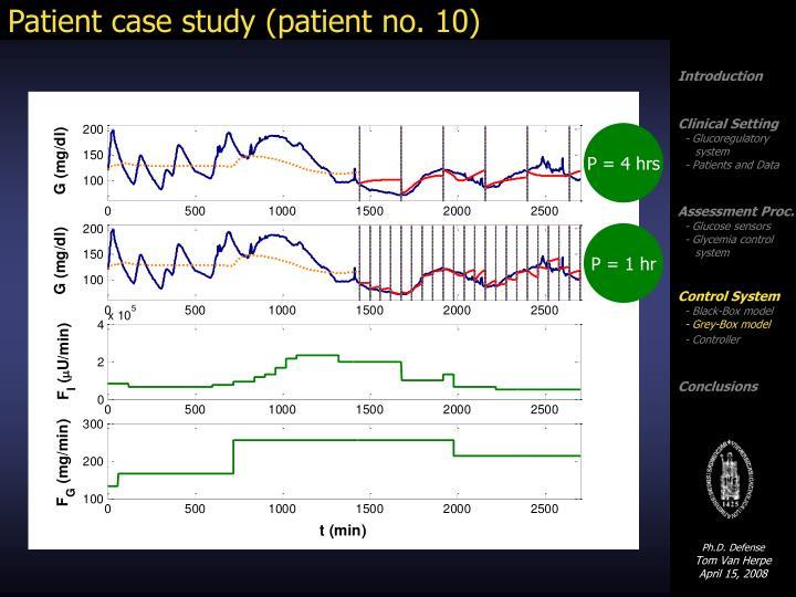 Patient case study (patient no. 10)