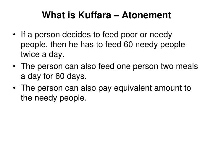 What is Kuffara – Atonement