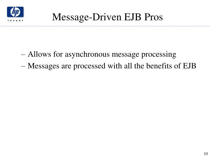 Allows for asynchronous message processing