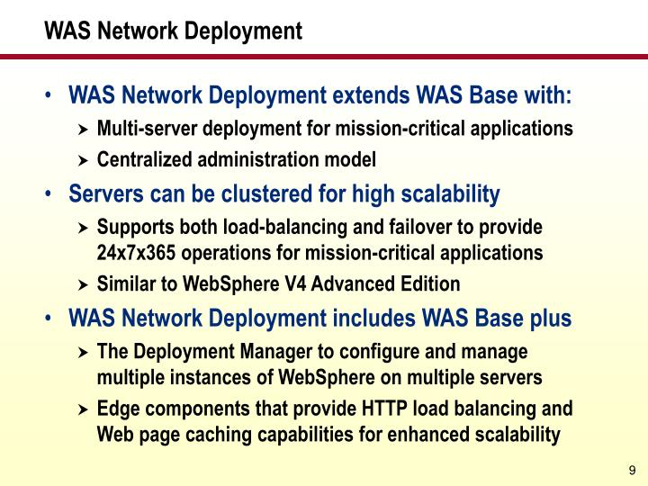 WAS Network Deployment