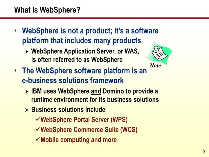 What is websphere