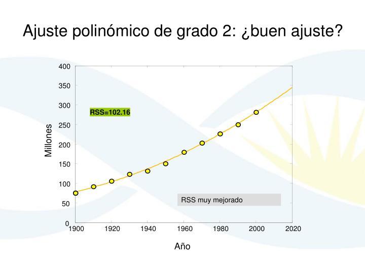 Ajuste polinómico de grado 2: ¿buen ajuste?
