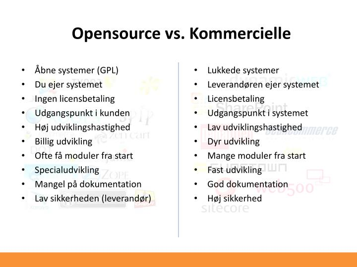 Opensource vs. Kommercielle