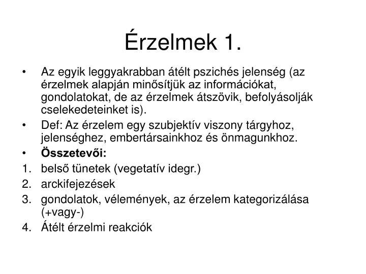 Érzelmek 1.