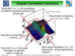 angular correlation functions1