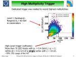 high multiplicity trigger