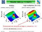 results data p t 1 3 gev c