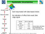 systematic uncertainties1
