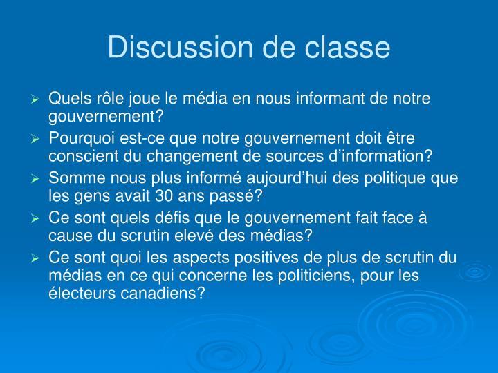 Discussion de classe